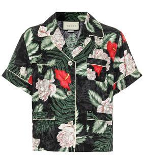 Gucci - Hemd aus Seiden-Jacquard