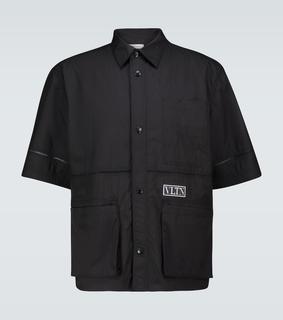 Valentino - Kurzarmhemd aus Tech-Material