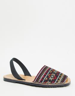 Solillas - Menorca-Sandalen mit geometrischem Muster-Mehrfarbig