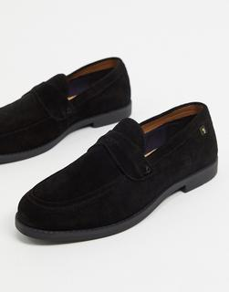 Farah - Loafer aus Wildleder in Schwarz