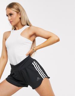 adidas Performance - adidas Training – Schwarze Shorts aus Wbstoff mit drei Streifen