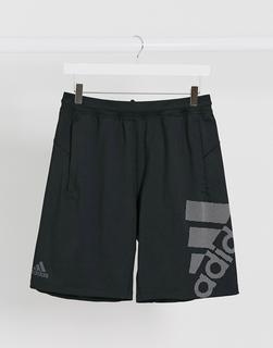 adidas Performance - adidas – Training-Shorts mit Logo-Grafik in Schwarz