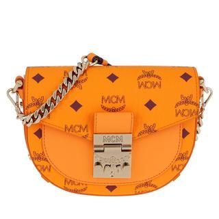 MCM - Umhängetasche - Patricia Visetos Mini Crossbody Bag Bright Marigold - in orange - für Damen