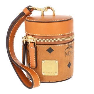 MCM - Umhängetasche - Cylinder Visetos Mini Crossbody Bag Cognac - in cognac - für Damen