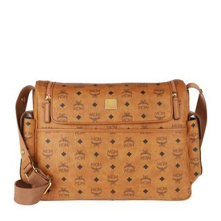MCM - Reisetasche - Klara Visetos Large Diaper Bag  Cognac - in beige - für Damen