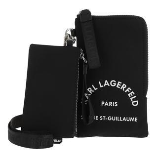 KARL LAGERFELD - Umhängetasche - Rue St Guillaume Double Pouch Black - in schwarz - für Damen