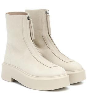 The Row - Ankle Boots Zipped 1 aus Leder