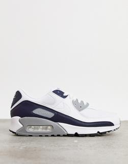 Nike - Air Max 90 – Sneaker in Weiß/Grau
