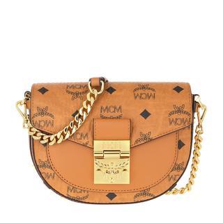 MCM - Umhängetasche - Patricia Visetos Mini Crossbody Bag Cognac - in cognac - für Damen