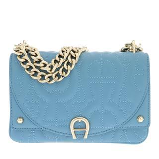Aigner - Umhängetasche - Diadora Handle Bag Dusk Blue - in blau - für Damen