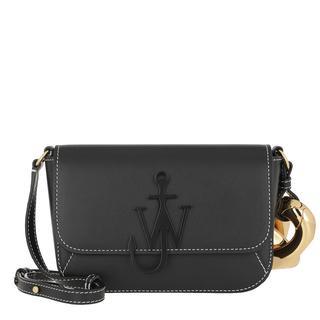 JW Anderson - Umhängetasche - Chain Midi Anchor Crossbody Bag Black - in schwarz - für Damen