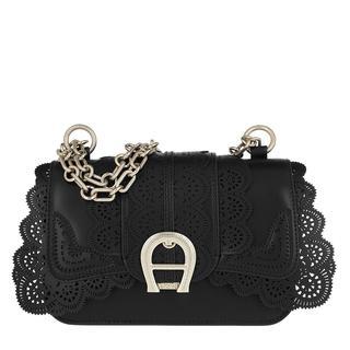 Aigner - Umhängetasche - Lacy Shoulder Bag Black - in schwarz - für Damen