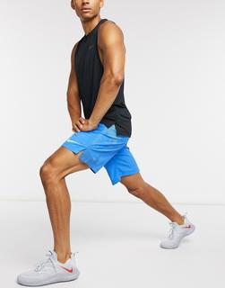 Nike Training - Flex 2,0 – Shorts mit großem Logo in Blau