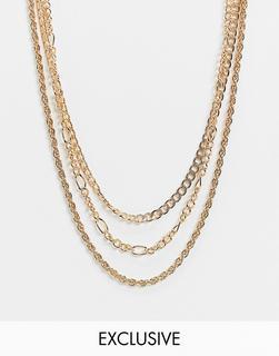 Reclaimed Vintage - Inspired – Mehrreihige Kette-Gold