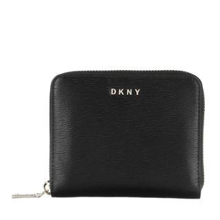 dkny - Portemonnaie - Bryant Small Ziparound Wallet Black/Gold - in schwarz - für Damen
