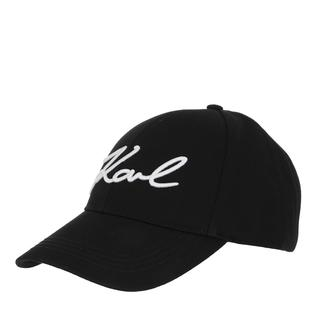 KARL LAGERFELD - Caps - Karl Signature Cap Black - in schwarz - für Damen