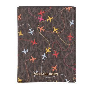 MICHAEL KORS - Portemonnaie - Jet Set Medium Passport Wallet Brown Multi - in braun - für Damen