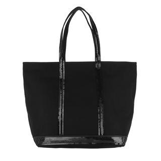 Vanessa Bruno - Tote - Cabas Zipper Tote Cotton Medium Noir - in schwarz - für Damen