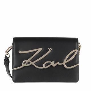 KARL LAGERFELD - Satchel Bag - Karl Signature Shoulderbag Black/Gold - in schwarz - für Damen