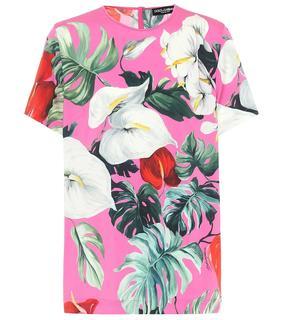 Dolce & Gabbana - T-Shirt aus einem Seidengemisch