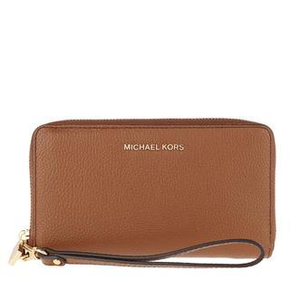MICHAEL KORS - Portemonnaie - Jet Set Large Flat Multifunction Phone Case Luggage - in cognac - für Damen