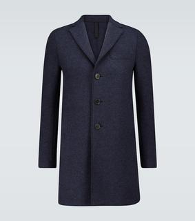 Harris Wharf London - Einreihiger Mantel aus Kochwolle