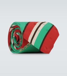 Gucci - Exklusiv bei Mytheresa – Seidenkrawatte mit Horsebit-Motiv