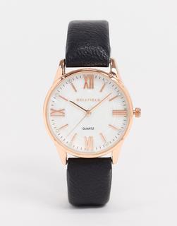 Bellfield - Uhr mit schwarzem Armband und roségoldenem Zifferblatt