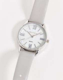 Bellfield - Uhr mit grauem Armband und silbernem Zifferblatt