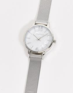Bellfield - Uhr mit Netzstoffarmband in Silber