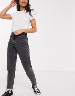Levis - Brenda– Dunkelgraue Mom-Jeans