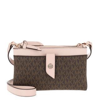 MICHAEL KORS - Umhängetasche - Charm Medium Tab Double Zip Phone Crossbody Brown Softpink - in braun - für Damen