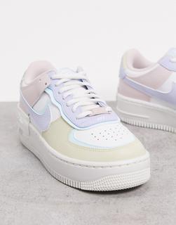 Nike - Air Force 1 Shadow – Sneaker in Pastellfarben-Mehrfarbig