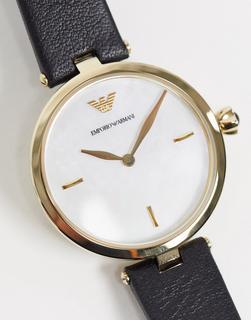 Armani - AR11200 – Schwarze Armbanduhr-Blau