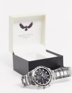 Brave Soul - Armbanduhr aus Edelstahl-Silber