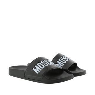 Moschino - Schuhe - Logo Slides Black - in schwarz - für Damen