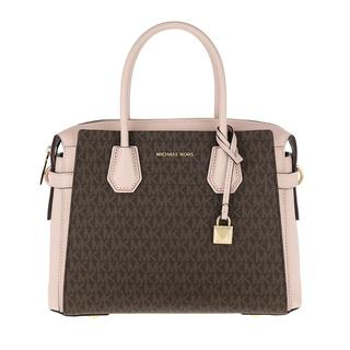 MICHAEL KORS - Tote - Mercer Belted Medium Satchel Bag Brown Soft Pink - in rosa - für Damen