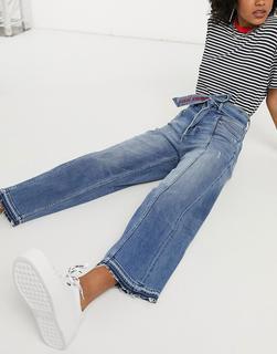 Tommy Jeans - Hellblaue Jeans mit hohem Bund und weitem Bein