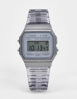 Casio - F-91WS-8EF – Digitale Armbanduhr in Grau