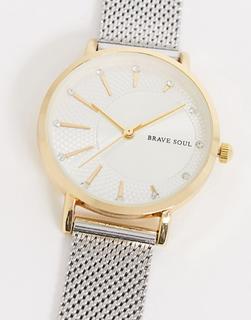 Brave Soul - Zweifarbige Armbanduhr-Silber