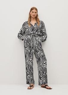 MANGO - Hose mit zebra-motiv