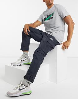 Nike - Club – Gewebte Cargo-Jogginghose mit Bündchen in Schwarz