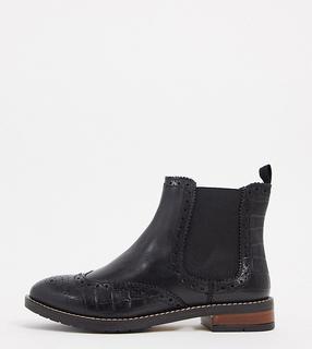 Dune - Quentons – Chelsea-Stiefel aus schwarzem Leder