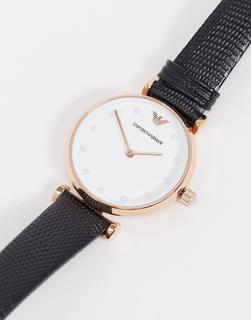 Armani - AR11270 – Schwarze Armbanduhr-Blau