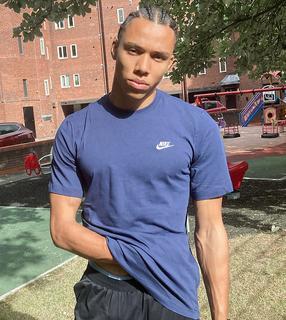 Nike - Tall – Club – Marineblaues T-Shirt-Navy