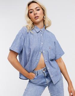 Levis - Levi's – Maxine – Hemd in halbverwaschenem Hellblau