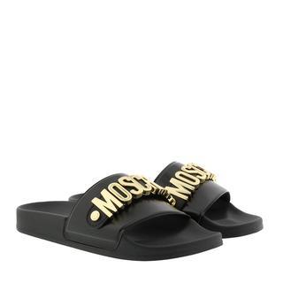 Moschino - Schuhe - M11 Logo Slides Black - in schwarz - für Damen