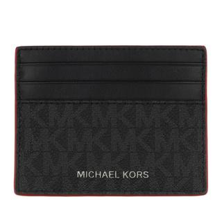 MICHAEL KORS - Portemonnaie - Men Tall Card Case Black Red - in schwarz - für Damen