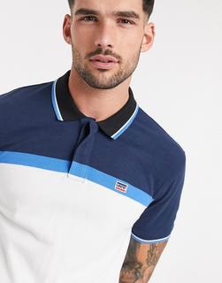 Levis - Sportkleidung – Polohemd mit Kontraststreifen-Weiß