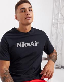 Nike - Air – Schwarzes T-Shirt mit Logo